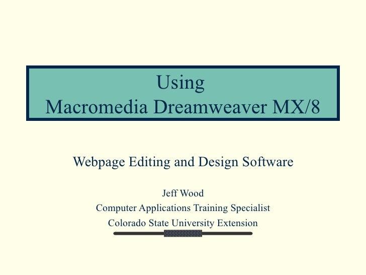 Macromedia Dreamweaver 8 2