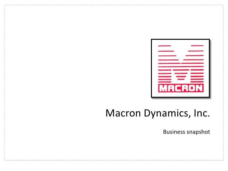 Macron Overview Presentation