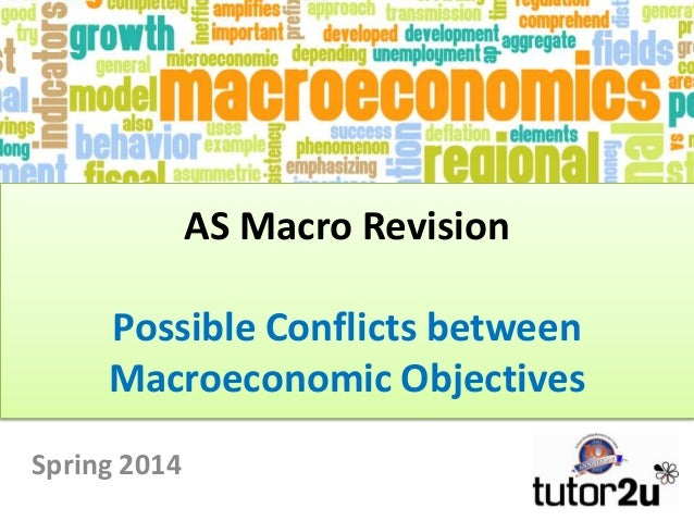 AS Macro Revision  Possible Conflicts between Macroeconomic Objectives Spring 2014