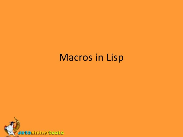 LISP: Macros in lisp