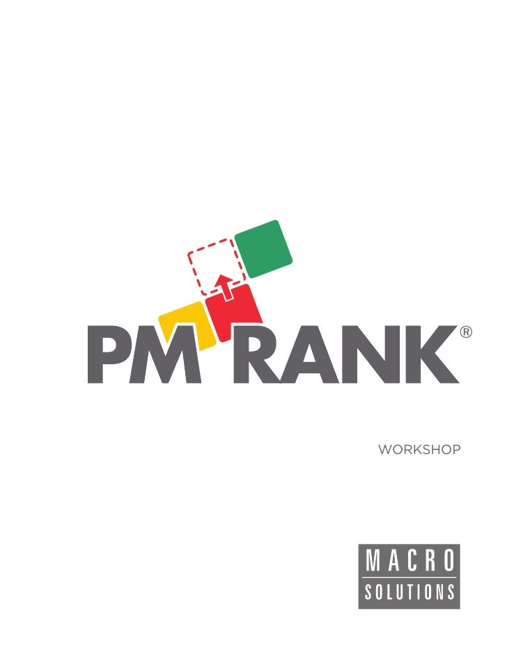 Macrosolutions PMRank Workshop (en)