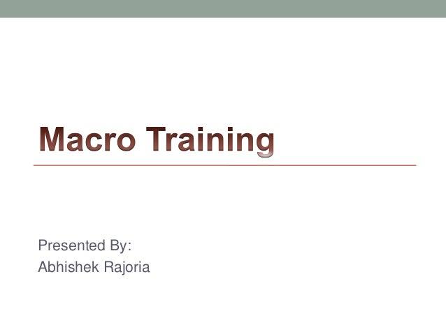 Learn Excel Macro