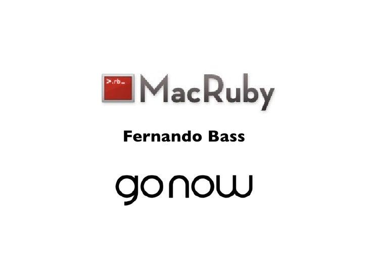 Macruby gurusp - lightning talk