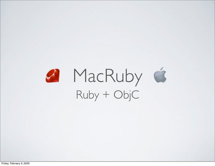 MacRuby - When objective-c and Ruby meet