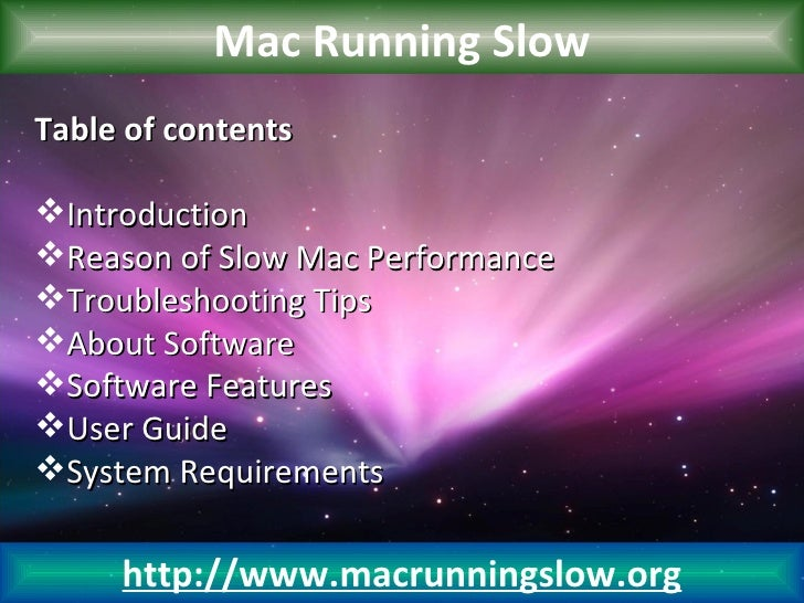 Mac Running SlowTable of contentsIntroductionReason of Slow Mac PerformanceTroubleshooting TipsAbout SoftwareSoftware...
