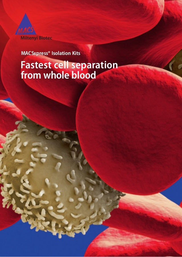 MACSxpress® Isolation Kits Fastest cell separation from whole blood