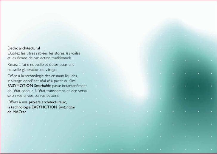 Mactac soignies vitres adh sifs opacifiants - Vitre opaque electrique ...