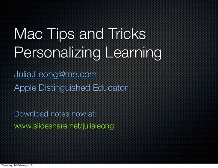 Mac tips n tricks
