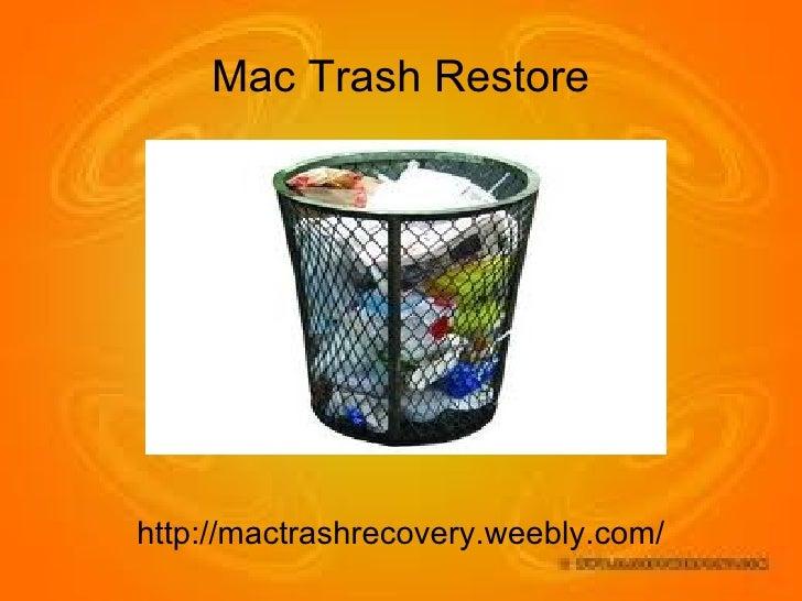Efficient Methods For Mac Trash Restore