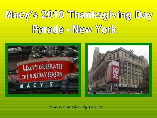 Macy's 2010 Thanksgiving Day Parade - NY