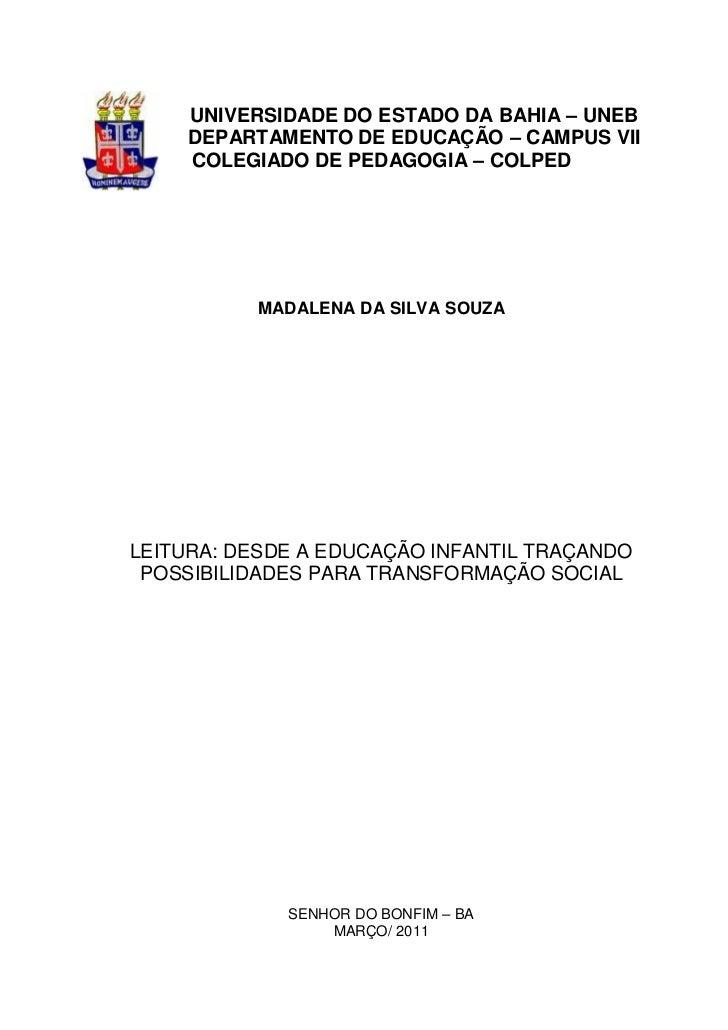 Monografia Madalena Pedagogia 2011