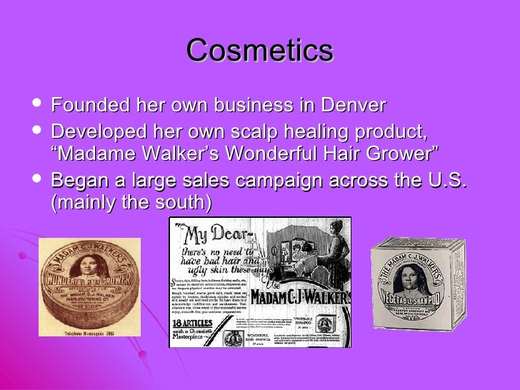 madame cj walker essay example American women and the making of an instructive example is an advertising campaign for the remarkable careers of annie turnbo malone and madam c j walker.