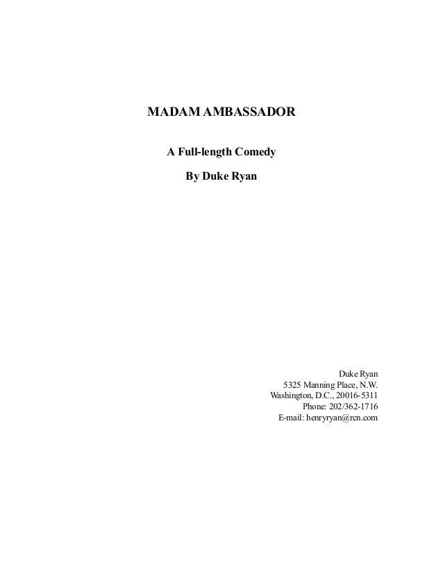 Madam Ambassador (Play Script)