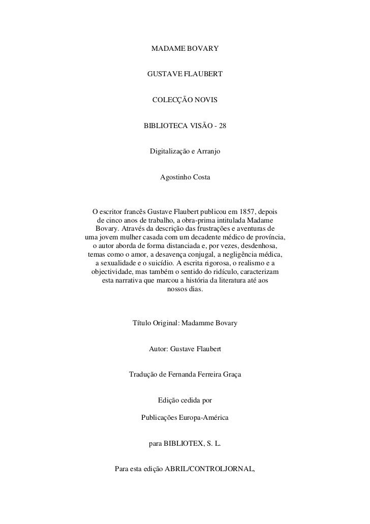 MADAME BOVARY                    GUSTAVE FLAUBERT                      COLECÇÃO NOVIS                   BIBLIOTECA VISÃO -...