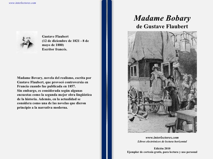 Madame bobary de gustave flaubert