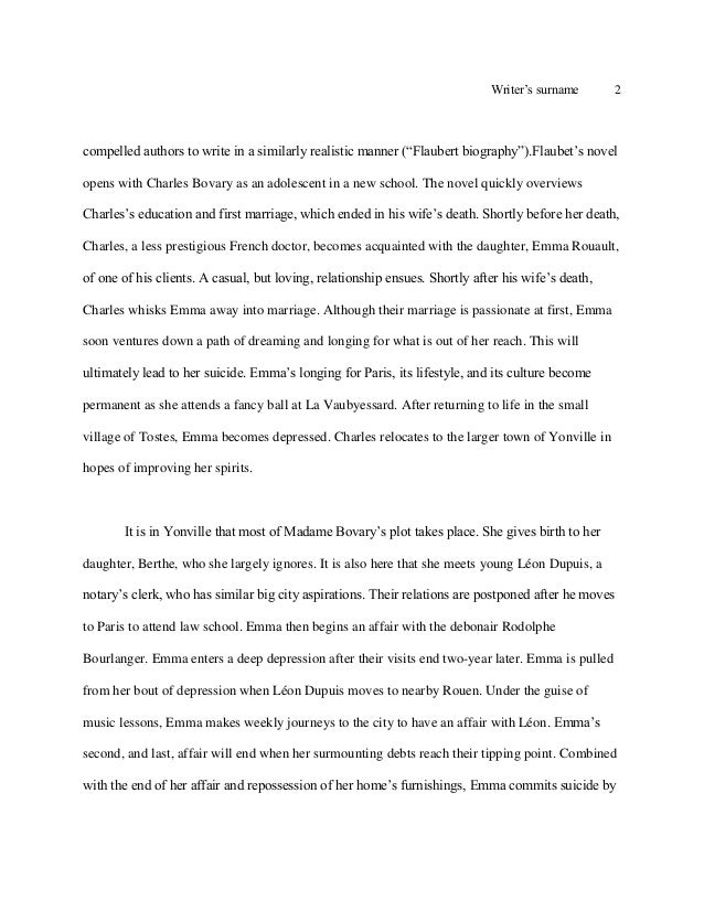 Emma madame bovary essay