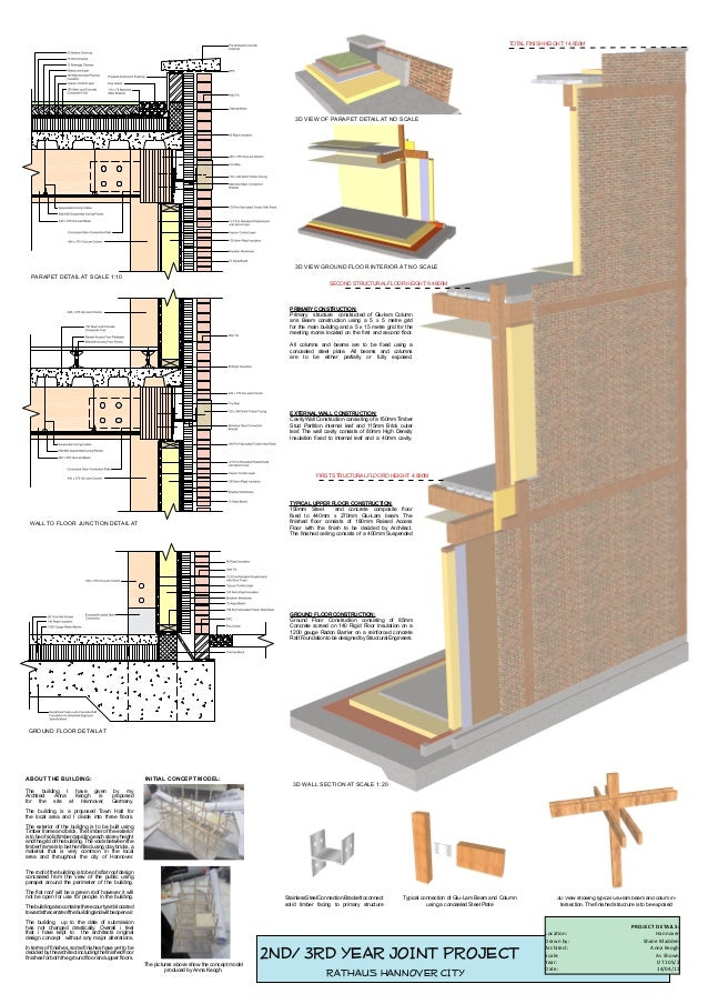 Presentation Design Drawing For Architectural Drawing