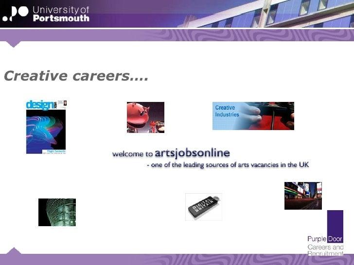 UoP careers service - creative sector
