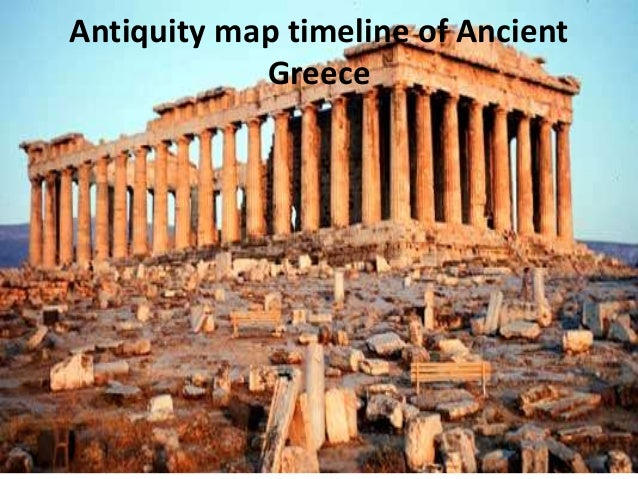 Antiquity map timeline of Ancient Greece
