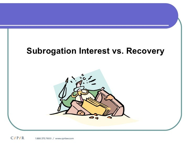 understanding the issue of subrogation from a legal point of view