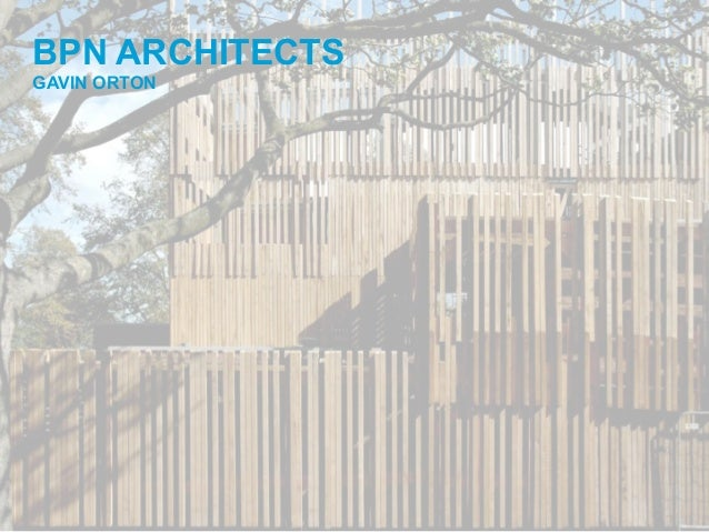 BPN ARCHITECTS GAVIN ORTON