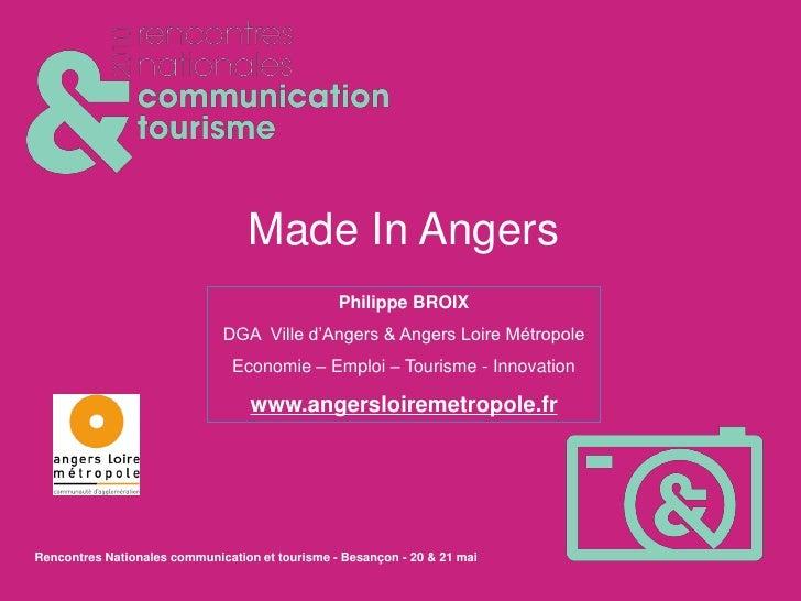 L'événementiel et la communication comme leviers du TDE : l'exemple de Made in Angers