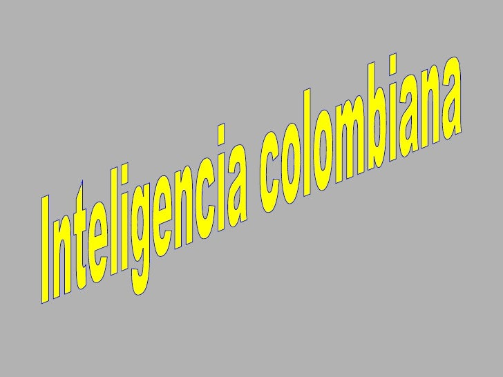 Inteligencia colombiana