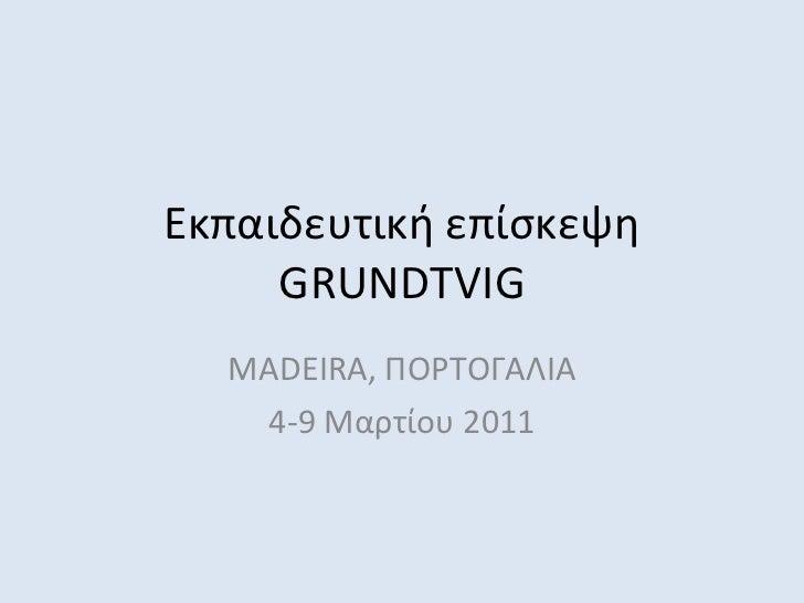 Εκπαιδευτική επίσκεψη  GRUNDTVIG MADEIRA,  ΠΟΡΤΟΓΑΛΙΑ 4-9 Μαρτίου 2011