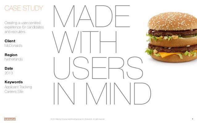 Made with Users in Mind - McDonald's