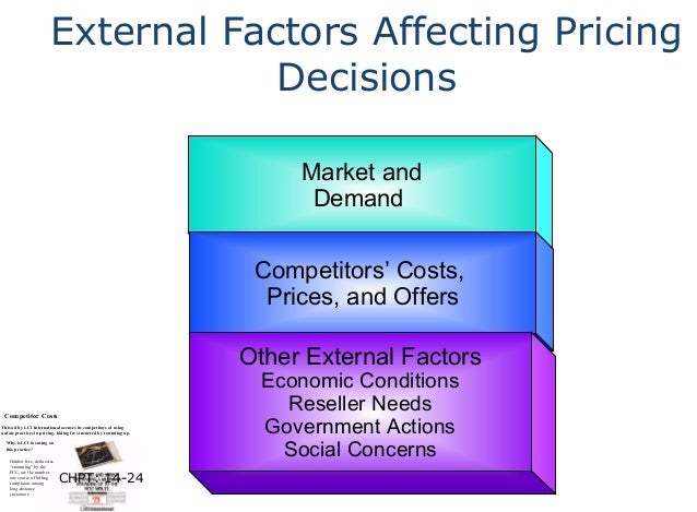external factors affecting pricing decision