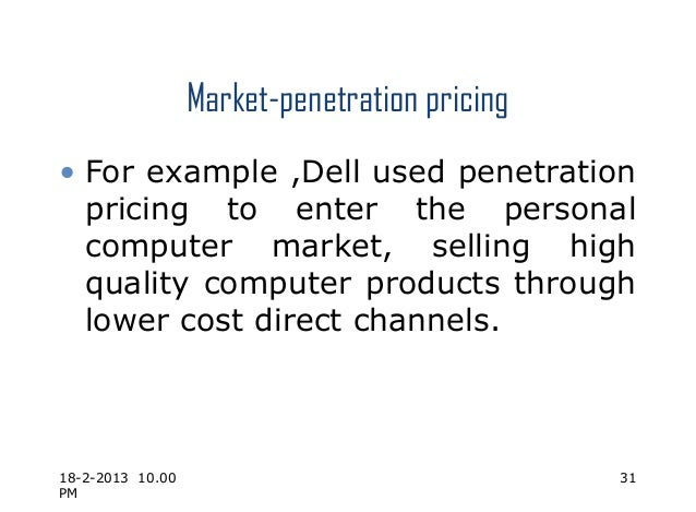 Bad, penetration pricing strategy dick