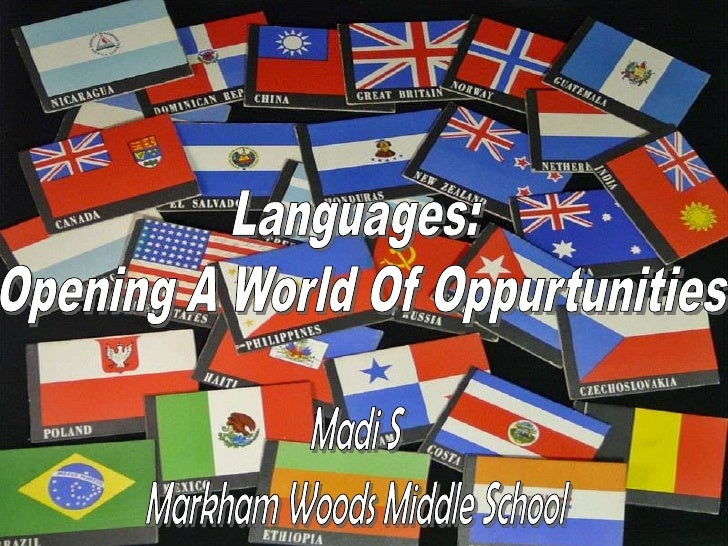 Languages - Opening a World of Opportunity