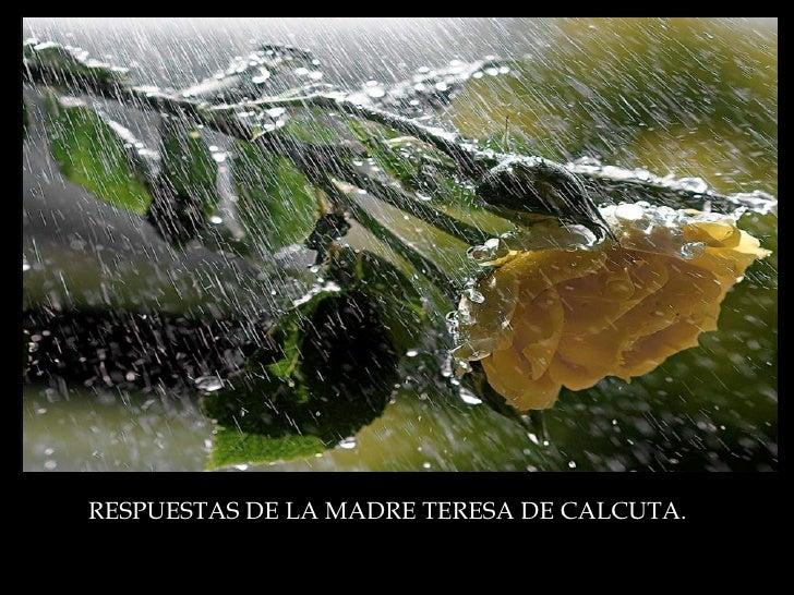 RESPUESTAS DE LA MADRE TERESA DE CALCUTA.