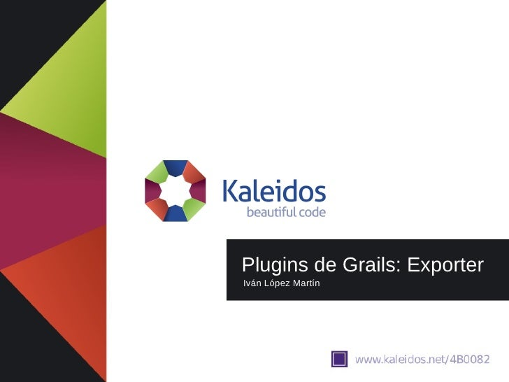 Madrid GUG - Grails Plugins: Exporter