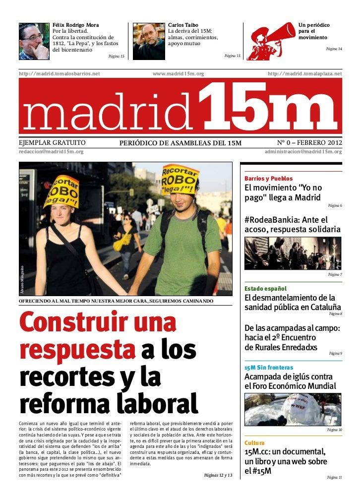 Periódico Madrid15M, número 0 (febrero 2012)