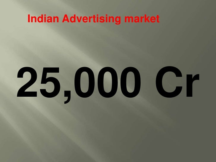 Indian Advertising market<br />25,000 Cr<br />