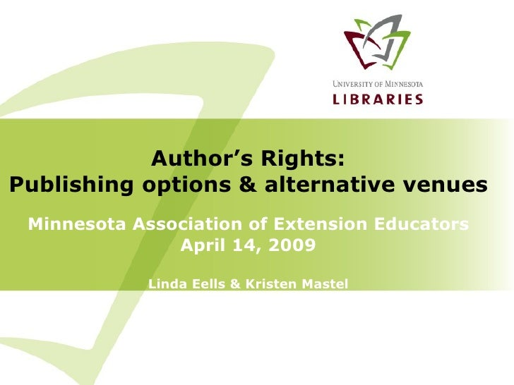 MAEE Author's Rights