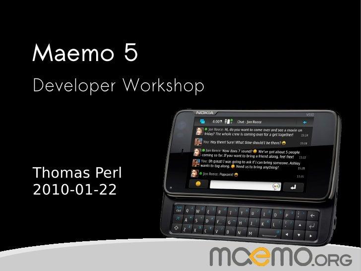Maemo 5 Developer Workshop @ Metalab