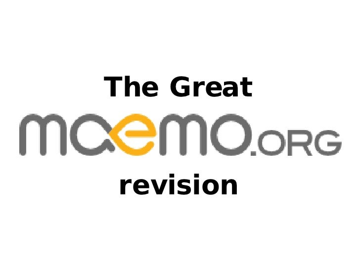 The Great revision