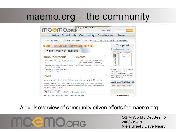 maemo.org OSiM DevSesh5