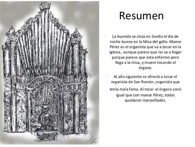 Gustavo Adolfo BecQuer maese perez el organista resumen