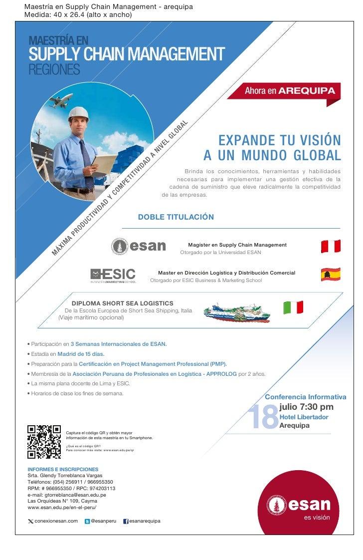 Aviso de la Maestría supply chain_management_arequipa