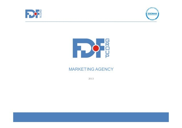MARKETING AGENCY 2013
