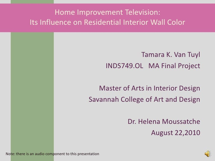 Home Improvement Television: Its Influence on Residential Interior Wall Color