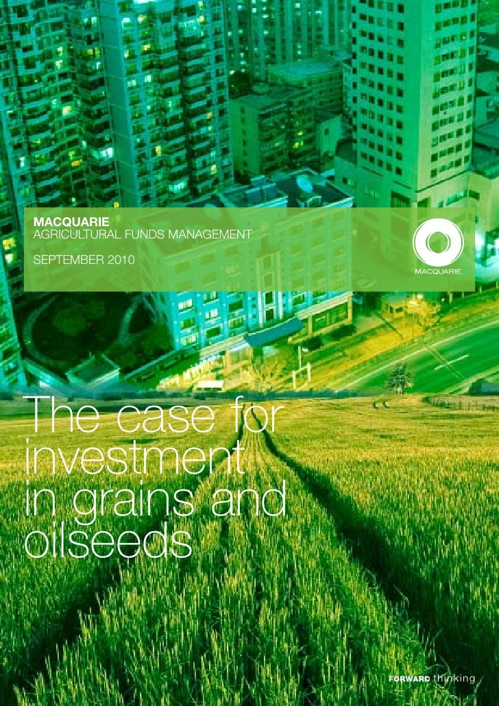 Mafm the case for investment in grains and oilseeds