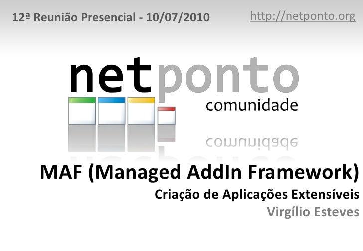 MAF - Managed AddIn Framework