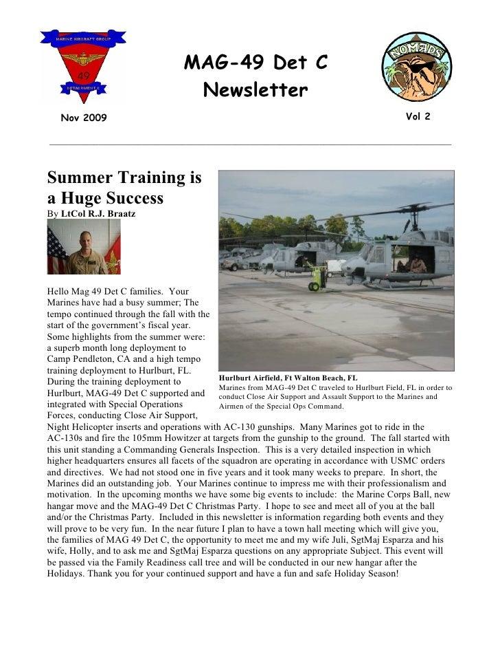 MAG-49 Det C                                        Newsletter    Nov 2009                                                ...
