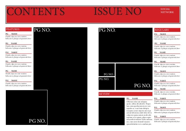 CONTENTS PG NO.  FEATURES PGNAME  ISSUE NO PG NO.  SOCIAL NETWORK  REGULARS PGNAME  Dandit, ulpa sin corio vendem hillec...