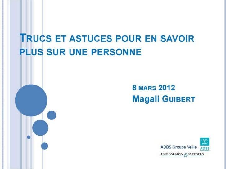 Magali Guibert de Eric Salmon & Partners