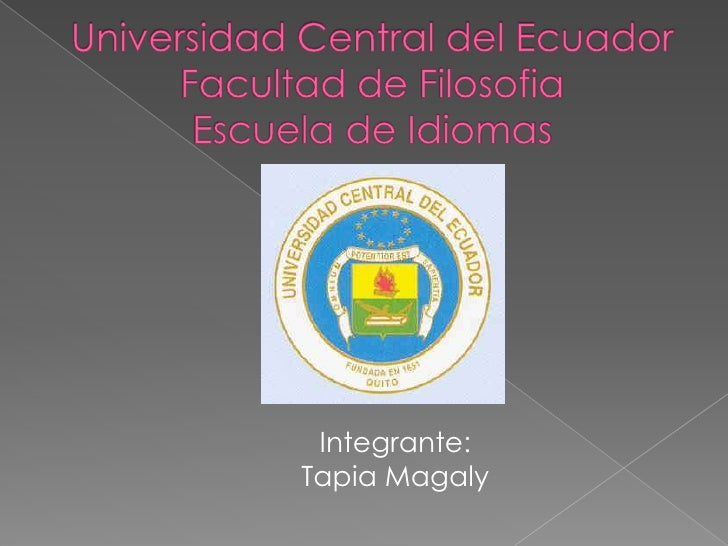 Integrante:Tapia Magaly